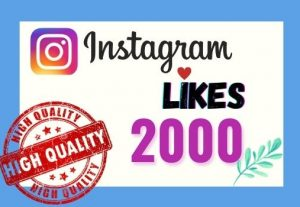 I will provide Instant 2K real likes in your Instagram post