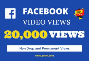 I will provide 20k real views on your facebook videos [Non Droppable]