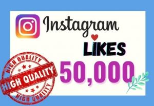 I will provide Instant 50K real likes in your Instagram post