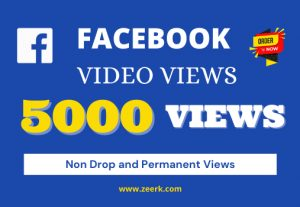 I will provide 5k real views on your facebook videos [Non Droppable]