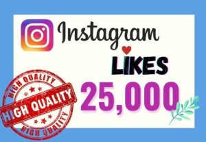 I will provide Instant 25K real likes in your Instagram post