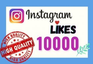 I will provide Instant 10K real likes in your Instagram post