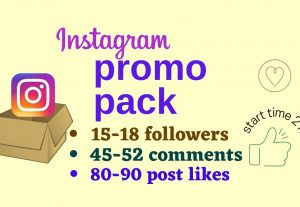 Instagram promo pack Follower & Comments & Post like