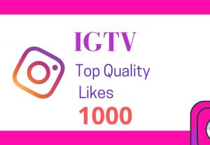 I will provide 1000 IGTV top quality likes