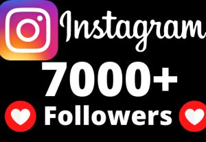 I will add 7000+ REAL AND non drop Instagram followers