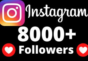 I will add 8000+ REAL AND non drop Instagram followers.