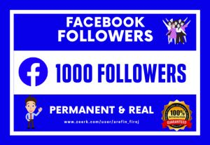 I Will Provide 1000 Real Facebook Followers.(Permanent & Non Droppable)