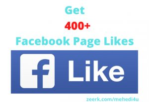 I will give 400+ real Facebook Page Likes || 100% original || Permanent