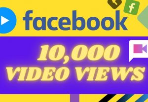 I will provide 10,000 facebook video views