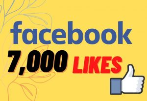 I will Provide 7000 Organic None drop facebook Likes