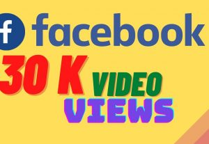 I will provide 30,000 facebook video views