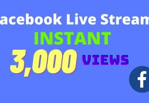 I will provide 3,000 facebook video views