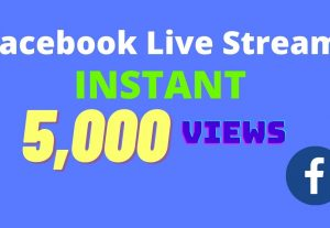 I will provide 5,000 facebook video views