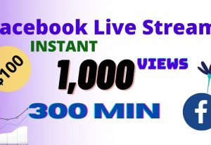 I will provide 1,000 facebook Live stream Instant Views