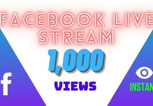 I will provide 1,000 facebook video views