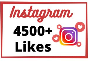 Get Instant 4500+ Non-Drop And High-Quality Instagram Likes