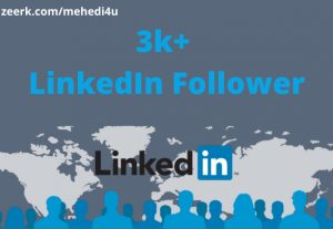 I will provide 3k+ real LinkedIn Follower || Permanent || 100% original