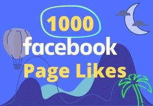 I will give 1000 likes on your facebook page