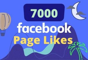 I will give 7000 likes on your facebook page