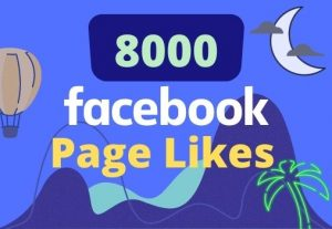 I will give 8000 likes on your facebook page