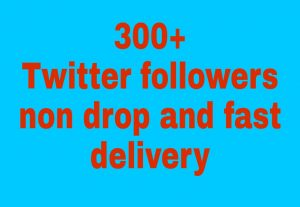 I will get you 300+ Twitter followers high quality and fast delivery