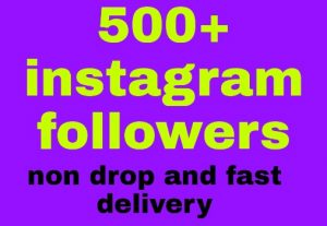 Instagram followers 500 give you all are non drop