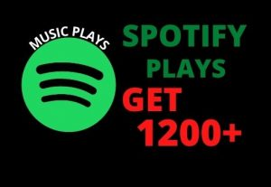 I will provide 1200+ Spotify play (NON-Drop)…