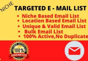 I will collect 3k niche targeted email list for your business
