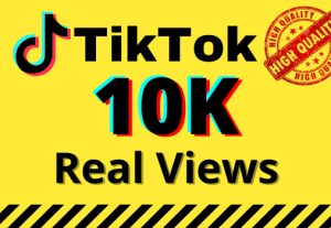 I will give you 10k real views on your TikTok videos
