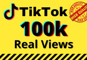 I will give you 100k real views on your TikTok videos