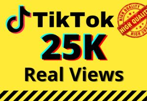 I will give you 25k real views on your TikTok videos