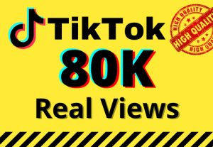 I will give you 80k real views on your TikTok videos