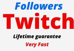 Add 1000 Twitch Organic and Real Followers, active user, Non-drop, Lifetime guarantee