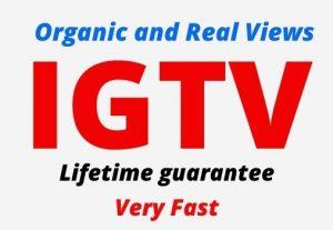 Add 4000 IGTV Organic and Real Views, active user, Non-drop, Lifetime guarantee