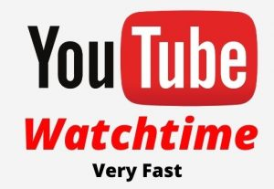 Add 10,000 Youtube Watchtime, Active User, Non-Drop.