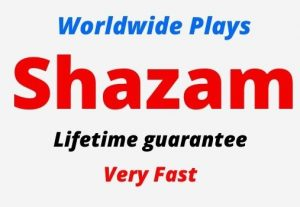 Add 7000 Shazam Plays Worldwide, Organic and Real Plays, Non-drop, Lifetime guarantee