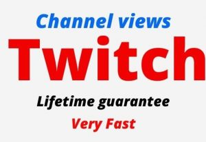 Add 10,000 Twitch Organic and Real Channel views, active user, Non-drop, Lifetime guarantee