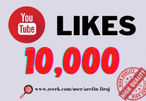 I will provide 10k real likes in your YouTube video