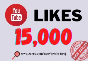I will provide 15k real likes in your YouTube video