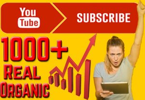 Get 1000+ YouTube Active, Non Drop and Permanent Subscriber.