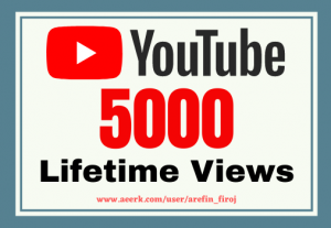 I will give you 5k real views on your YouTube videos