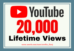 I will give you 20k real views on your YouTube videos