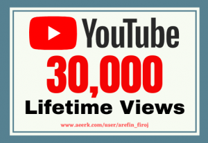 I will give you 30k real views on your YouTube videos