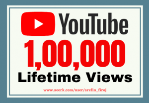 I will give you 100k real views on your YouTube videos