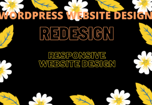 I will design or redesign responsive professional wordpress website