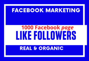 I Will Facebook page 1000+ Like Followers grow . I am Social Media Manager