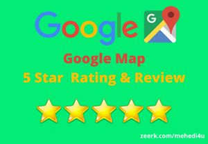 Get 7 permanent google map review || 100% original