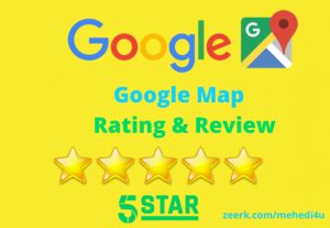 Get 10 country targeted google map review || 100% original || For Lifetime