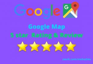 Get 7 country targeted permanent google map review just in 5$ || 100% original