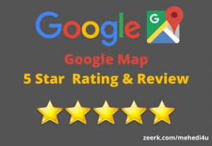 I will provide 6 permanent google map review just in 4$ || 100% original